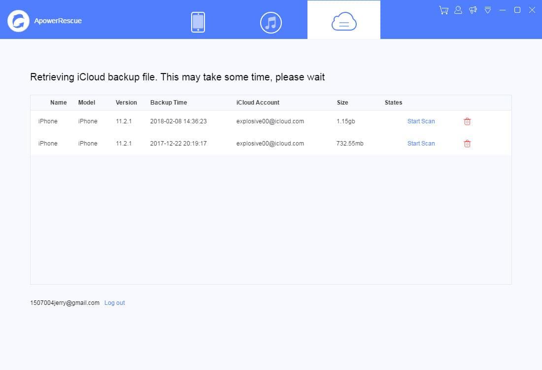 iCloud-varmuuskopiointi