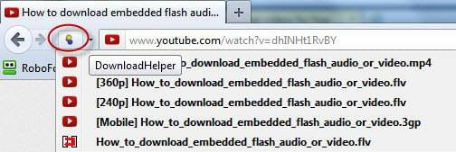 download flv file in firefox