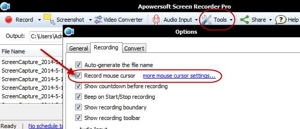 remove yellow area mouse cursor