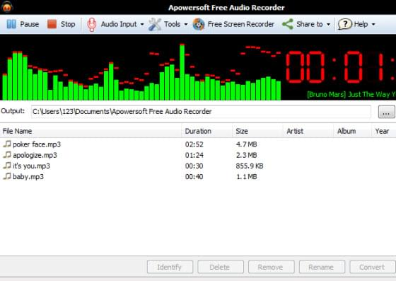 Free windows audio recorder record audio on windows 7 8 for Window recorder