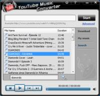 search YouTube songs