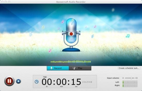 apowersoft free audio recorder para mac