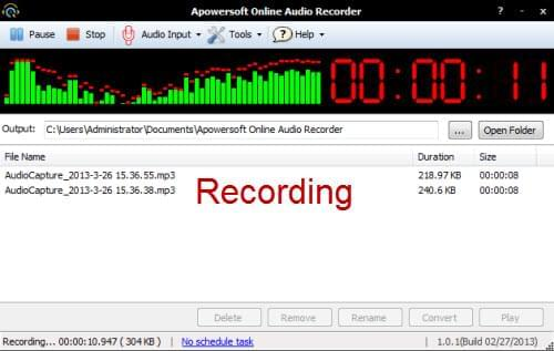 audio recording to text mac