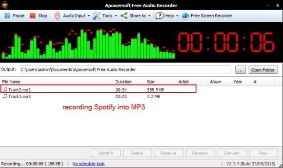 free record spotify