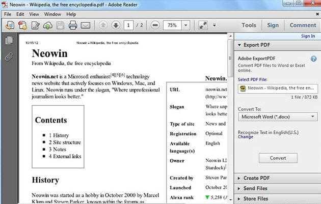adobe reader pdf viewer free