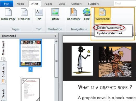delete watermark with PDF editor