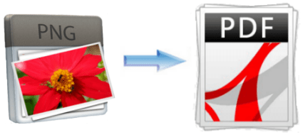 convert PNG image to PDF