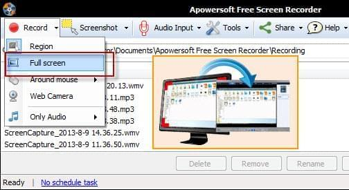 film your screen in full size
