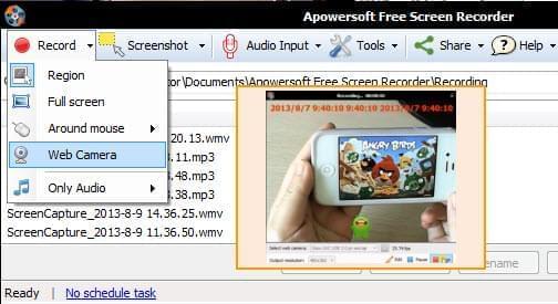 film your webcam
