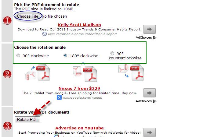 Free pdf rotator rotate a pdf file rotatepdf interface ccuart Image collections