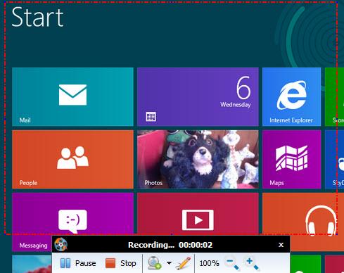 record screen on windows 8