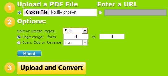 VeryPDF Free PDF Split Online