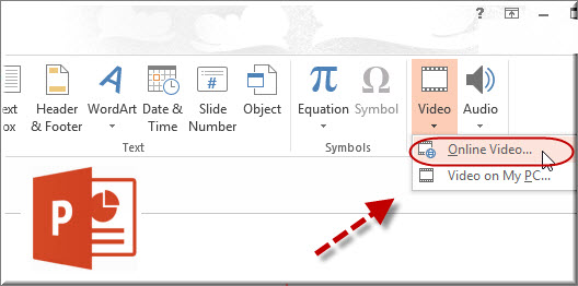 insert youtube videos into powerpoint 2013