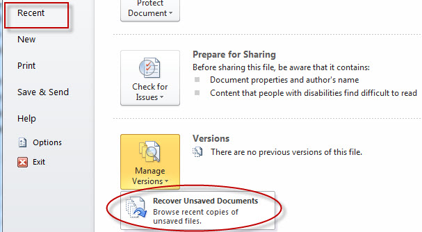 The instructions to recover unsaved Word document on Windows and Mac