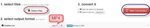 screenshot of CloudConvert