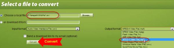 screenshot of ConvertFiles