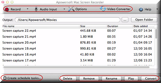 Apowersoft Released Screen Recorder 2 0 for Mac OS X 10 6 and Higher