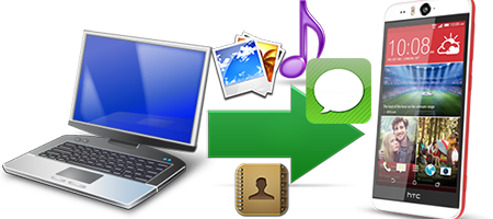 Transfer Files to HTC Desire Eye via USB, Bluetooth, WiFi