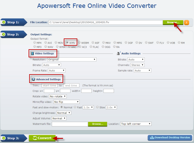 How to Convert FLV to WMV