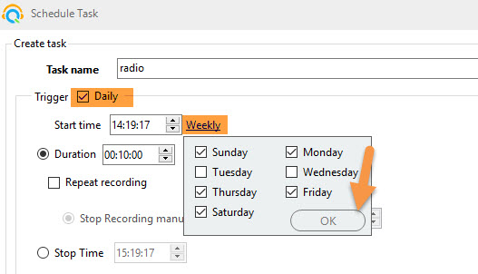 awesome method to record radio on schedule