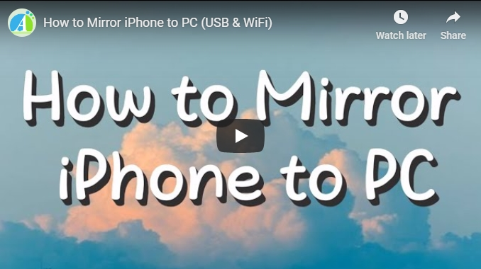 Easy Way To Mirror Iphone To Pc