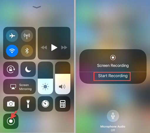 enable screen recording iphone