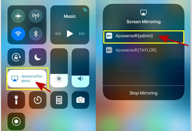 Screen monitoring iphone