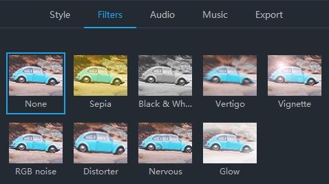 tilføj split screen filter