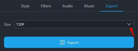 exportált megosztott képernyő videó