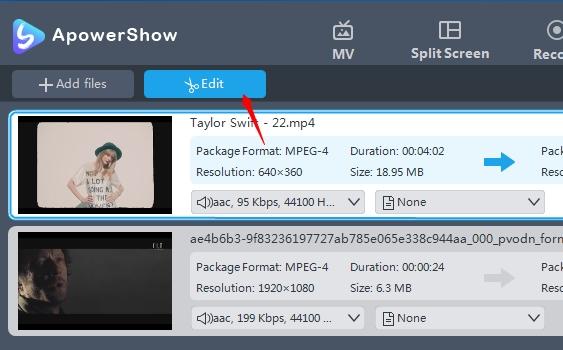 rediger video