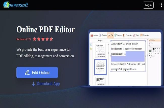Pdf Editor online, free